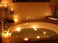 Candle Lit Bathroom